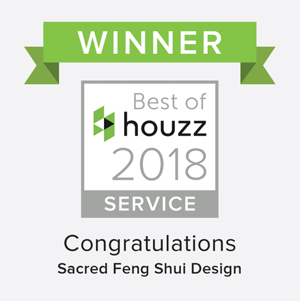 Houzz 2018 Customer Service Award sacredfengshuidesign